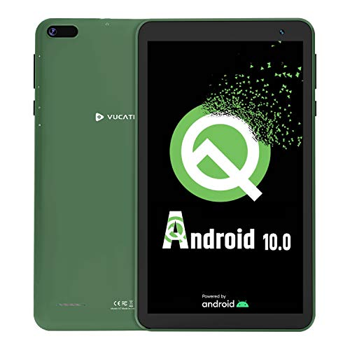 Tablet 7-Inch Android 10.0 - VUCATIMES 16GB ROM IPS HD Display Quad-Core Processor WiFi Bluetooth 4.2 Google Certified, Play Store Pre Installed, N7 (Green)