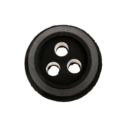 3-Loch Schwarz Kraftstoffleitung Gummitülle Durchgangstüllen Ersetzen Für Trimmer ECHO V137000030 13211546730