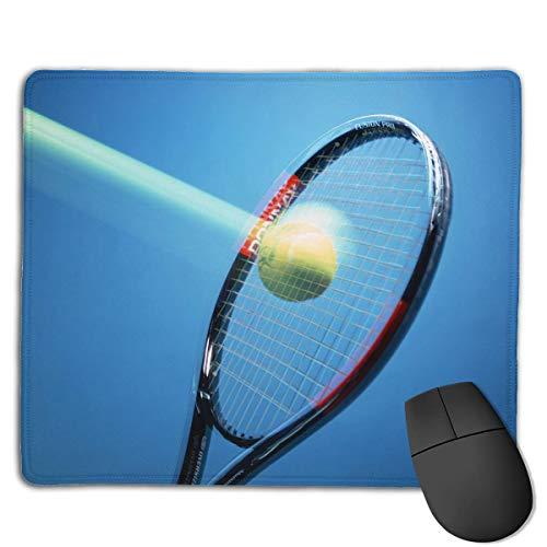 Alfombrilla de ratón Genial Raqueta de Tenis Gráficos Rectangular Alfombrilla de ratón Antideslizante Alfombrilla de ratón Alfombrilla de ratón 25X30CM