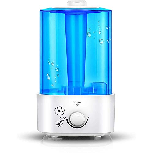 Tletiy Humidifiers for Bedroom Silent Cold Mist Humidifier 2 Liter Small Air Humidifier, Suitable for Bedchamber/Living Room US Plug Best for Kids