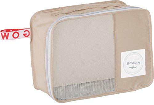 くるくる 収納 BOX型 トラベル ポーチ (S) ベージュ 590331006