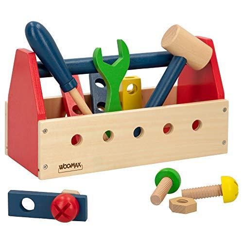 WOOMAX- Caja de herramientas de madera (Colorbaby 42751) , color/modelo surtido
