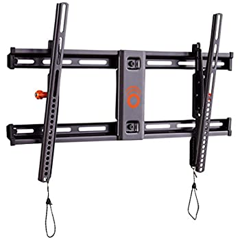 ECHOGEAR Tilting TV Wall Mount with Low Profile Design for 40  - 90  TVs - Eliminate Glare with 10º of Smooth Tilt - Slides to Center Between Studs & Can Be Leveled After Install