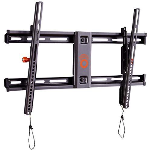 ECHOGEAR Tilting TV Wall Mount with Low Profile Design for 40' - 82' TVs - Eliminate Glare with 10º of Smooth Tilt - Slides to Center Between Studs & Can Be Leveled After Install - 2019 Upgrade