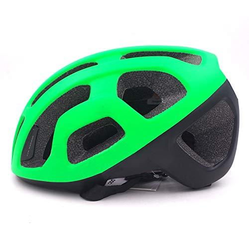 Casco Bicicleta Yuan Ou Ultraligero Aero Casco de Ciclismo Road MTB Casco de Bicicleta de montaña Adultos Hombres Mujeres Vtt Safety Racing Casco de Bicicleta Mate Negro-Verde