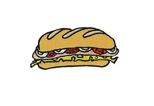 Opnaaier, geborduurd, rugzak, jas, donsjack, naaien, kawaii, sandwich