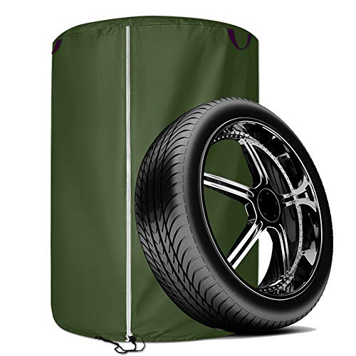 SoGuDio Tire Storage Cover Dustproof Protective Cover Seasonal tire Storage Bag Waterproof tire Storage Bag Suit for Jeep,Trailer,RV,SUV,Truck L (3348IN) Army Green