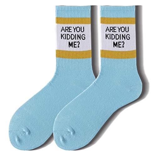 Meiw Nuttig Zijn U Kidding Me Straat Creatieve Sport Sokken Unisex Mode Merk afdrukken Katoen Warm Sokken