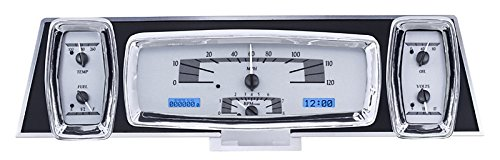 Dakota Digital 61 62 63 Lincoln Continental Analog Dash Gauge System Kit Silver Alloy Blue VHX-61L-S-B