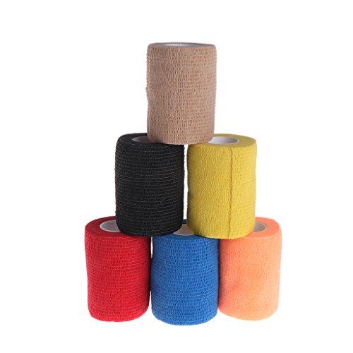 Lyguy Klebebandage für Haustiere, selbsthaftender Naturkleber Nicht-elastisches Latex der Kohäsiven Kohlebisch für die Haustiere des Domestico 1 pieza de Colores al azar