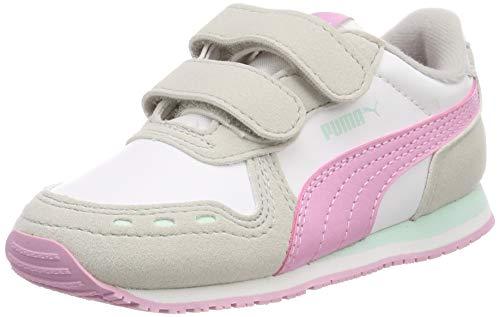 Puma Cabana Racer SL V Inf, Scarpe da Ginnastica Unisex – Bambini, Bianco White-Gray Violet-Pale Pink, 27 EU