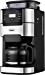 10-Cup Drip Coffee Maker, Grind and Brew Automatic Coffee Machine with Built-In Burr Coffee Grinder, Programmable Timer Mode and Keep Warm Plate, 1.5L Large Capacity Water Tank, Removable Filter Basket, 1025W, Black (Renewed)