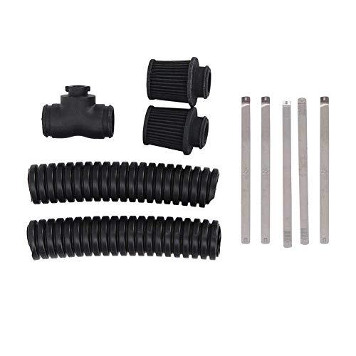 Bisheep Filtro de aire RC Crawler de repuesto, modelo de motor de coche Kit de filtro de aire para 1/10 RC Crawler TRX4 Defender Bronco Scx10 (cabezas duales) piezas