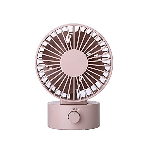 ShenMiDeTieChui Durable USB Small Fan Mute Agite automáticamente Head Mini Mini Portátil Ventilador de la Cama de la Cama Grande Ventilador para el hogar Conveniente (Color : Pink)