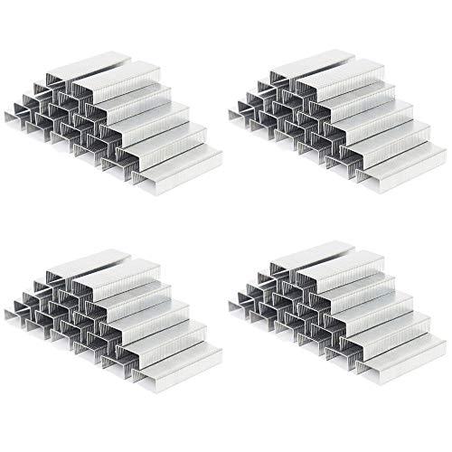 CINY 3000 Grapas 24/6 12 * 6mm, Capacidad de 25 Hojas, Adecuado para Grapadora Estándar 1000 Piezas/Caja, 3 Cajas en Total 3000 Piezas (Cada caja: 50 Piezas por Tira x 20 Tiras)
