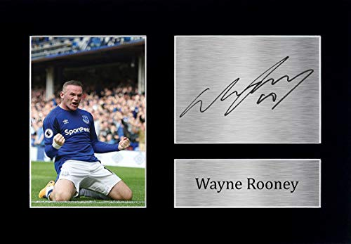 HWC Trading Wayne Rooney A4 Ungerahmt Signiert Gedruckt Autogramme Bild Druck-Fotoanzeige Geschenk Für Everton Fußball Fans
