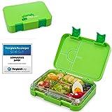 schmatzfatz junior Kinder Lunchbox, Bento Box mit variablen Fächern (Grün)