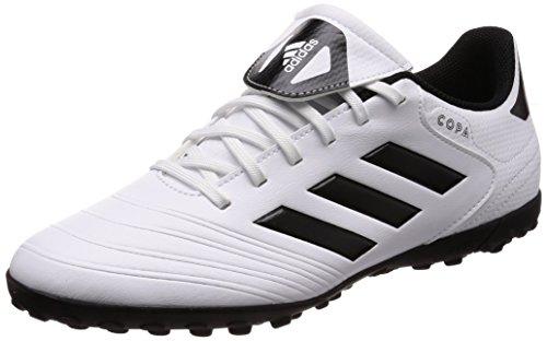 adidas Herren Copa Tango 18.4 TF Fußballschuhe, Weiß (Footwear White/Core Black/Tactile Gold Metallic), 40 EU