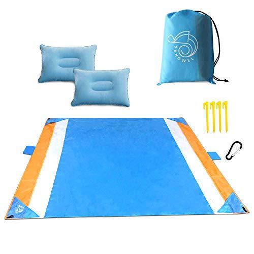SandWel Waterproof Beach Blanket Mat, Oversized and Lightweight 79