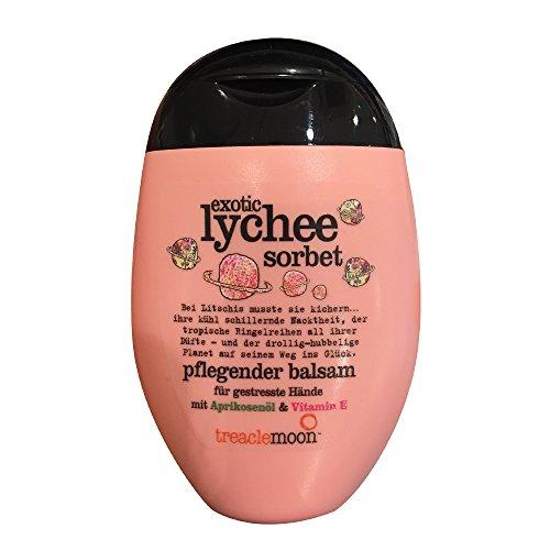 Handcreme / Balsam TREACLEMOON - EXOTIC LYCHEE SORBET (Aprikosenöl + Vitamin E / 75 ml) VEGANES PRODUKT