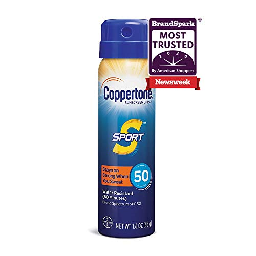 1.6oz Coppertone SPORT Continuous SPF 50 Broad Spectrum Sunscreen Spray $1.50