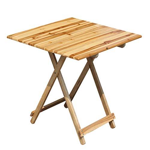 NJ opklapbare tafel- opvouwbare draagbare vierkante tafel massief hout eettafel, outdoor stal tafel barbecue tafel