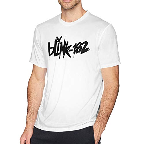 CHENYINJJ Blink-182-Logo Camiseta para Hombre - DIY Casual C