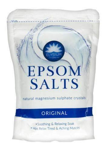Original Epsom Sel de Bain Cristal 450g Sulfate de Magnésium Naturel Relaxation Apaise