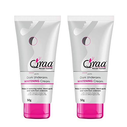 QRAA Dark Under Arm Cream For Whitening/Dark Spot Removal, 50 G (Pack Of 2), 50 g (Pack of 2)