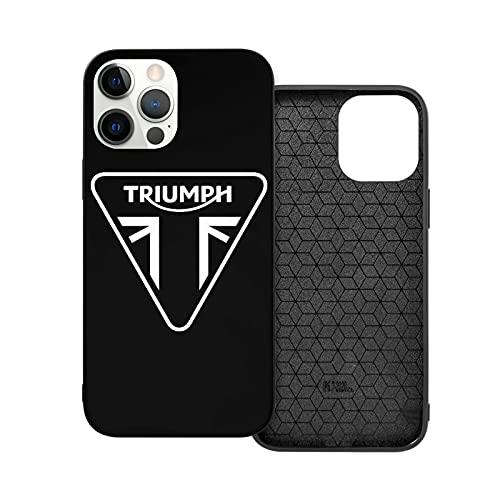 Triumph Motorcycle Custodia per cellulare iPhone 12/Mini/Por/Por Max, copertura di protezione completa con bordo in silicone TPU antiurto e antigraffio
