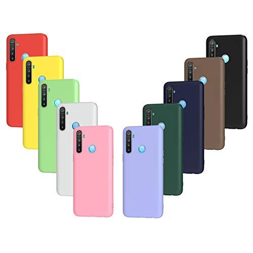 ivoler 10x Hülle für Oppo Find X2 Neo 5G, Ultra Dünn Tasche Schutzhülle Weiche TPU Silikon Handyhülle Hülle Cover (Schwarz, Weiß, Blau, Grün, Dunkelgrün, Rosa, Rot, Gelb, Braun, Lila)