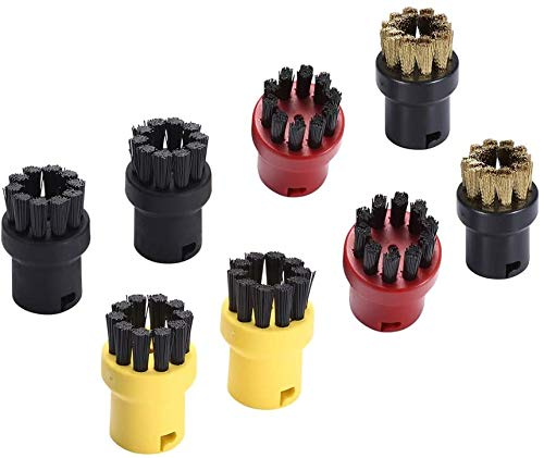 DEYF Round Brush Nozzle For Karcher Steam Cleaners (Pack of 8)