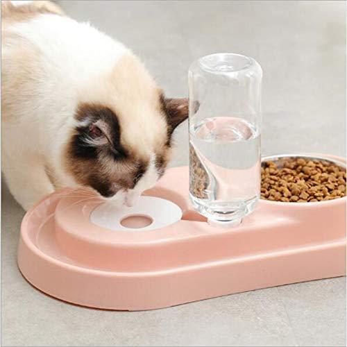 LiuYue Pet Feeder Automatische voederdispenser hond kat multifunctionele huisdieren voering en waterdispenser 2 in 1 plastic kom transparante hond kom