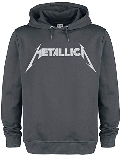 Metallica Amplified Collection - White Logo Männer Kapuzenpullover Charcoal M
