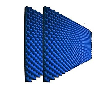 YDHTDLHC 2 PACK 24  X 48  X 2  BLUE Acoustic Foam Egg Studio Sound insulation Treatment Absorption made in China