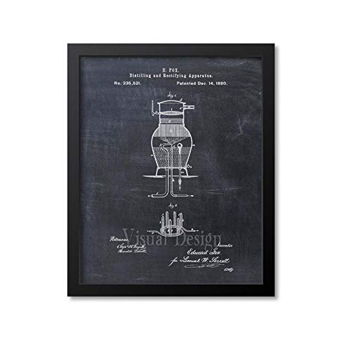 Whiskey Patent Print muur kunst Whiskey Distiller