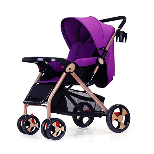 Best Bargain Yyqtyec Baby Stroller 2 in 1 Convertible Carriage Bassinet to Stroller, Pushchair with ...