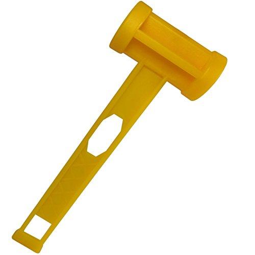 diMio Klassischer Multifunktions-Zelthammer aus robustem Kunststoff - Camping Hammer für Heringe und Zelt-Haken