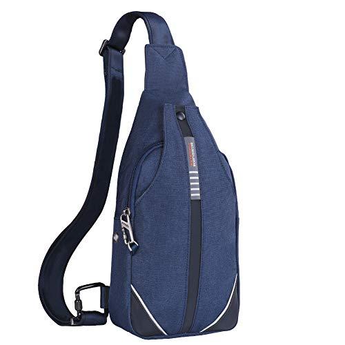 WATERFLY Anti-Diebstahl Sling Bag für Damen und Herren Brusttasche Hippie Crossbody Bag Multipurpose Daypack