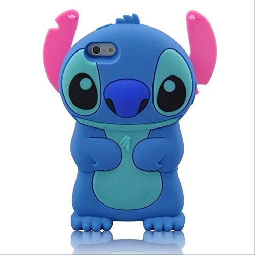 para iPhone 5 5s 5C SE 6 6s Plus 3D Funda de Silicona Suave Funda Trasera de teléfono Funda de Piel para iPhone 7 7Plus 8 8Plus X XS XR XS MAX FundaiPhone XS MAX Blue Stitch