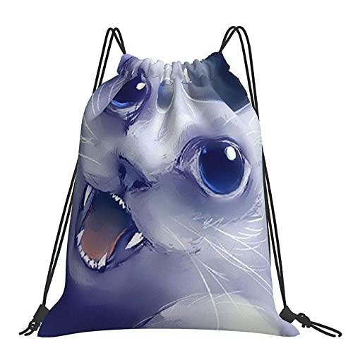 Bolsa de gimnasio Cool Funny Cat Mochila con cordón Bolsas deportivas Bolsa de playa para yoga Gimnasio Natación Viajes Playa