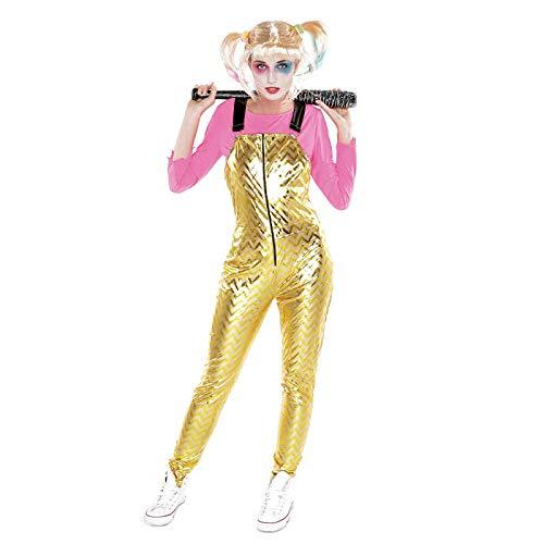 Disfraz Crazy Harlequin Dorado Mujer Cosplay (L) (+Tallas) Cine y TV