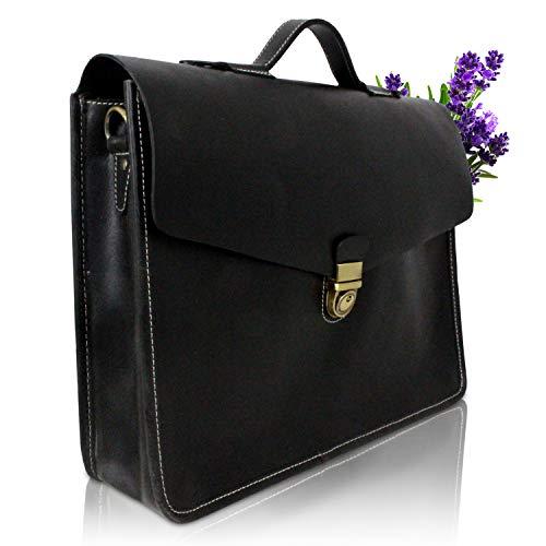 Corno d´Oro Herren Leder Aktentaschen, große Umhängetasche bis 15.6 Zoll Laptoptasche,...