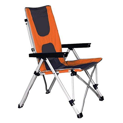 Silla Plegable Silla reclinable de Dos usos Silla portátil Silla de Playa para Descanso de Verano Silla de Pesca para Acampar Ajuste de 4 velocidades