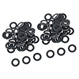Gazechimp 100pcs Durable Aluminum Oil Drain Plug Washer Gaskets for for Toyota for for for for Lexus, Repalces 9043012031, Black