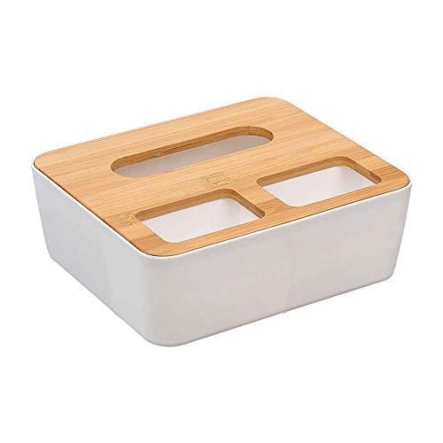 ysister Dispensador de pañuelos, Caja para pañuelos con Fondo extraíble para la Caja de pañuelos práctica Multifuncional para el hogar y el automóvil (22 x 19 x 0.9cm)