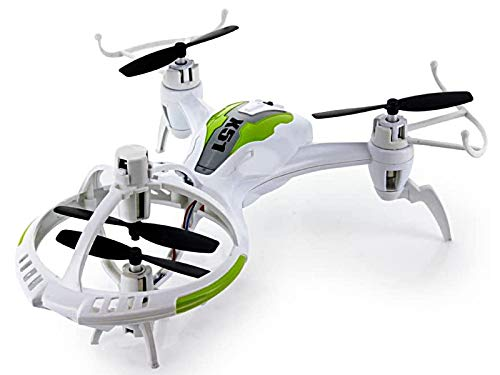 POCO DIVO Alien Spaceship X51 Gyro 3D Flip Tricopter RC Drone 2.4Ghz Kids UFO Flash Quadcopter Dual Speed 4CH Helicopter, White