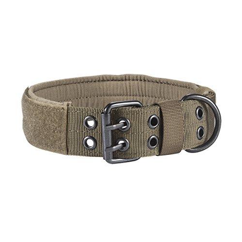 Motusamare - Collar de perro personalizado para cachorro de color sólido ajustable de nailon acolchado suave para perros medianos y grandes