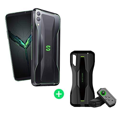 Black Shark 2 12GB+256GB Negro con Pro Kit (Black Shark Funda Protectora + Mandos de Gamepad Versiones Izquierda/Derecha) Dual SIM, Snapdragon 855, Adreno 640 GPU, Nuevo, Móvil - Versión Española …