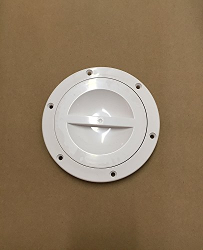 Automotive Authority LLC 4' White Round Access Hatch Cover Deck Plate for RV Marine Boat (White)